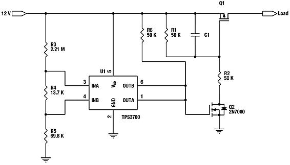 Gestione dell inrush e della protezione dei sistemi - Comparatore a finestra ...