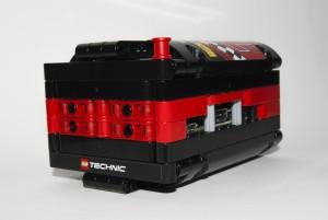 Il case per RasPi in LEGO Technic (vista assonometrica posteriore)
