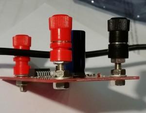 Fig. 1 – boccole montate in modo da creare il minimo ingombro sotto lo shield.