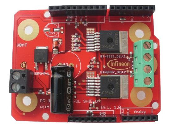 Figura 1.4.2: Motor Shield di Infineon a seguito delle modifiche.