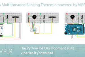 Multithreaded Blinking Theremin con VIPER