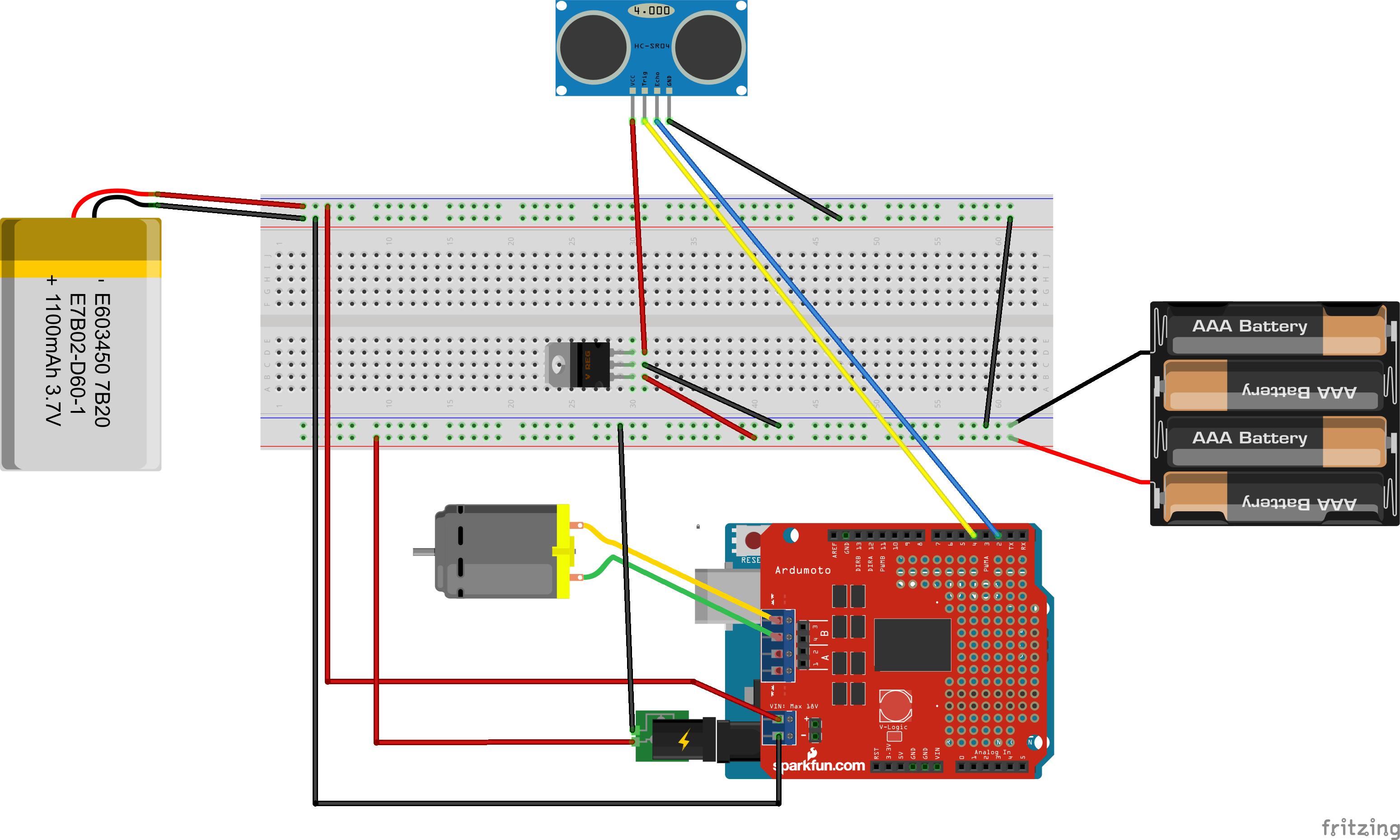 Figura 1.4.1: Schema circuitale del rilevatore sonar.