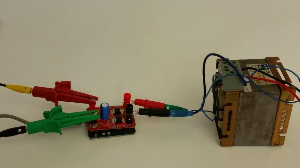 Il prototipo funzionante (ancora senza condensatore)
