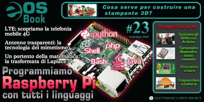 Eos book 23 con raspberry pi stampanti 3d lte progetti for Progetti in 3d gratis