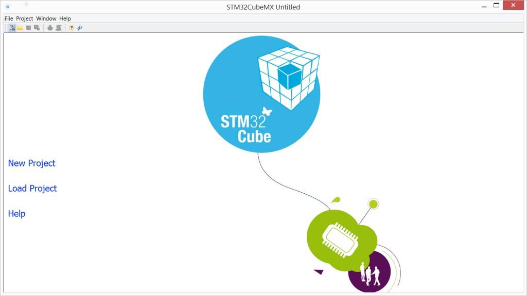 Schermata d'Avvio di STMCubeMX