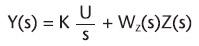 Figura 2. Funzione di rappresentazione dell'uscita del sistema nel dominio di Laplace