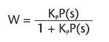 Figura 4. Funzione di trasferimento di un controllore P