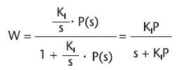 Figura 6. Funzione di trasferimento di un controllore PI