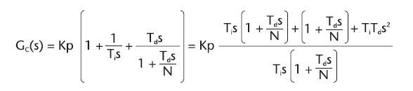 Figura 9. Funzione di trasferimento di un PID