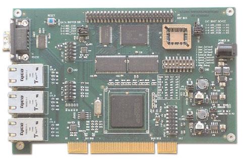 Figura 3. Immagine della scheda di valutazione EVB-3 Port NIC