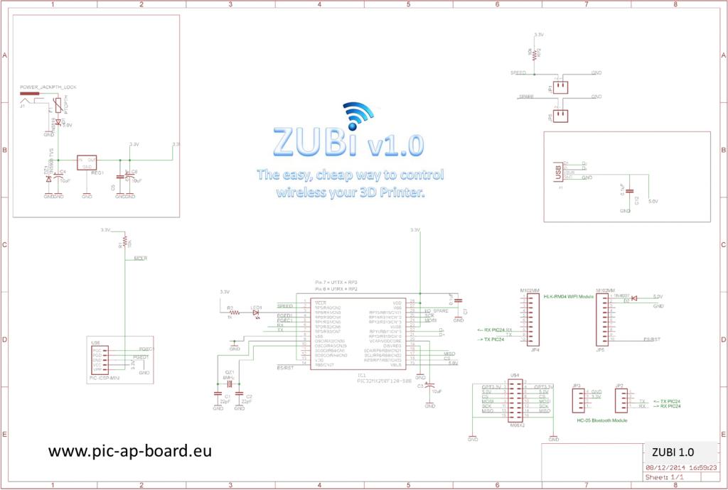 zubi progetto hardware e software per gestire la stampante 3d wireless
