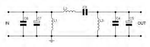 Figura 5. Esempio circuitale di filtro passa banda