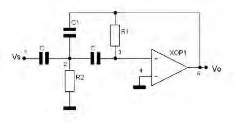 Figura 7. Esempio di cella passa alto del secondo ordine