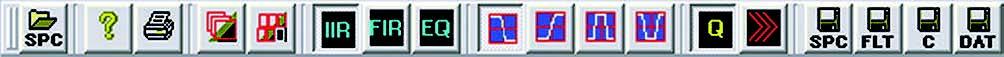 Figura 8. Barra del menù di dsPIC Digital Filter Design