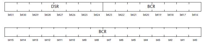 Figura 5. I registri BCRn e DSRn