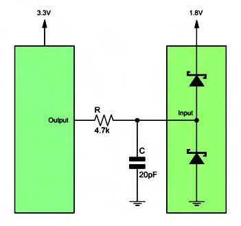 Figura 1. Semplice metodo per la traslazione dei livelli logici