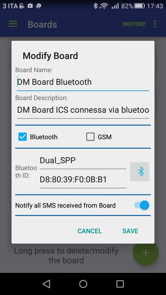 Creazione scheda DM Board ICS