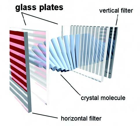 Figura 2. Stato non eccitato dei cristalli liquidi