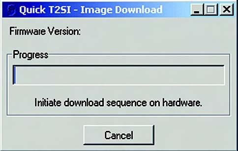 Figura 6. Download verso la demo-board