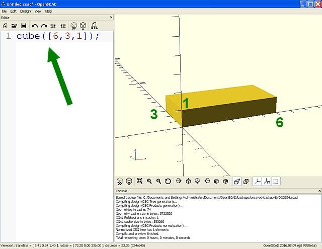 Figura 2: Il nostro primo solido 3D