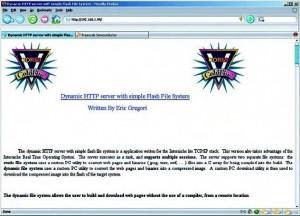 Figura 5. Pagina web mostrata dal chip quando si carica lo stack TCP/IP
