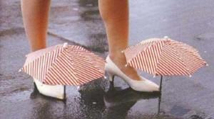 mini ombrello scarpe