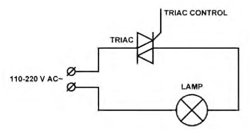 Figura 2. Collegamento tra TRIAC e lampada