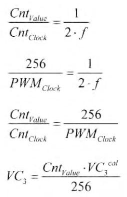 Figura 8. Formule relative alla calibrazione