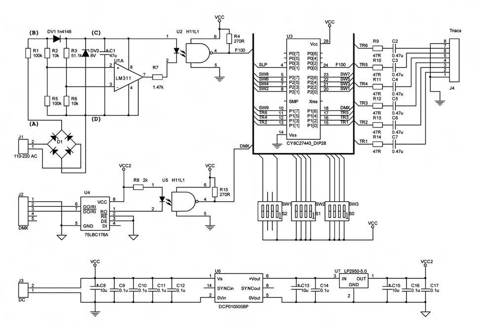 Figura 5. Schema elettrico del Dimmer
