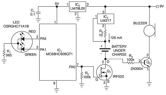 Figura 2: Schema elettrico Carica batterie NiCd