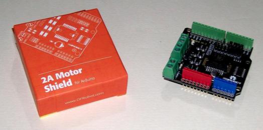 Figura 2: Lo shield Arduino per la gestione dei motori