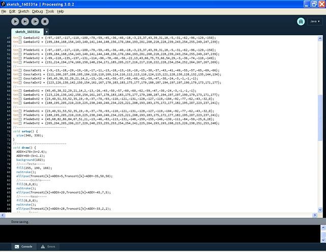Figura 8: La programmazione in Processing