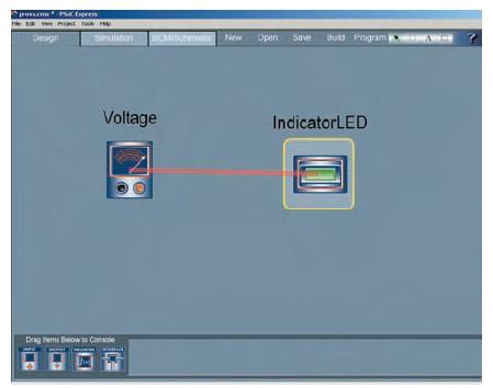 Figura 10. La definizione di una funzione di trasferimento è indicata da un segmento rosso che congiunge gli elementi di ingresso con l'uscita