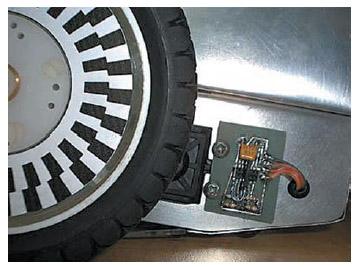 Figura 9. La doppia corona circolare utilizzata negli encoder a quadratura