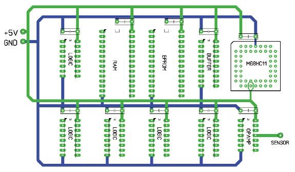 Figura 6. Un mediocre circuito stampato