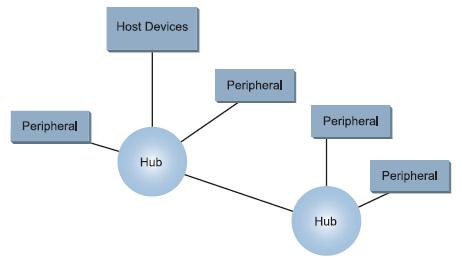 Figura 1. La topologia di una rete di dispositivi USB