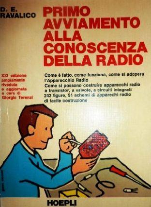 """Figura 1: Il libro """"Primo avviamento alla conoscenza della radio"""" di Ravalico."""