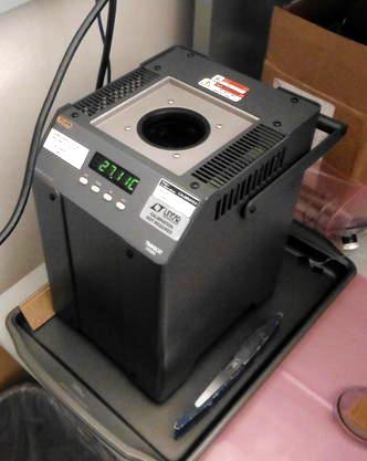 Figura 6: Bagno d'olio per il test di temperatura