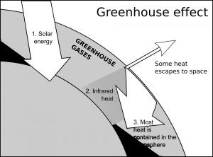 Figura 1: illustrazione che spiega l'effetto serra
