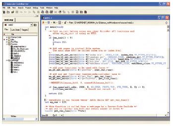 Figura 2. CodeWarrior – progetto d'esempio