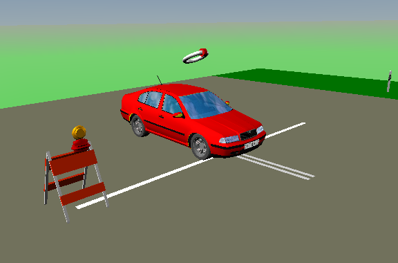 Frame tratto dal mondo virtuale di Matlab.