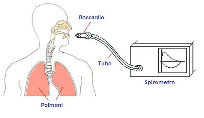 Figura 1 – un tipo molto semplice di spirometro