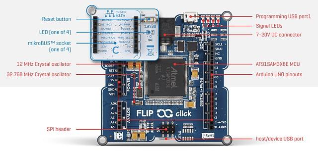 Figura 1: Il Flip & Click dal lato MCU.