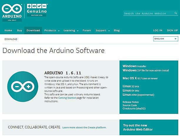 Figura 5: Il download di Arduino Ide.