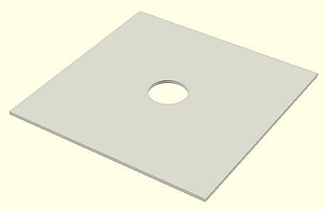 Figura 6: Il foglio forato per lo statore.