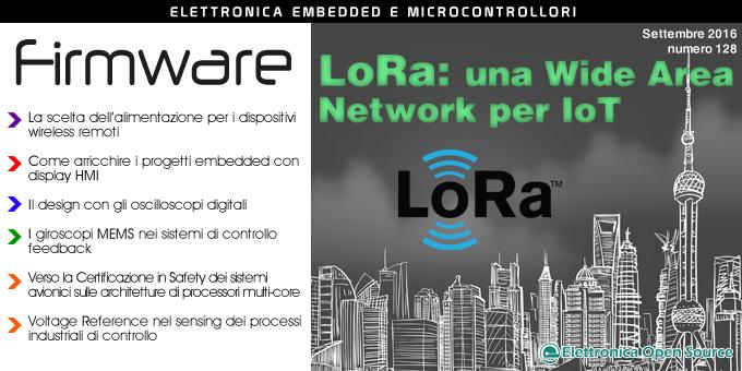 Firmware n. 128 con LoRa, display HMI, oscilloscopi digitali, MEMS e molto altro!