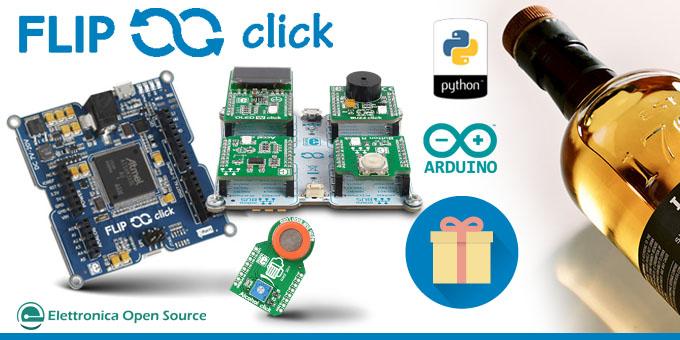 Flip & click, Arduino e Python compatibile, in omaggio per i nuovi abbonati!