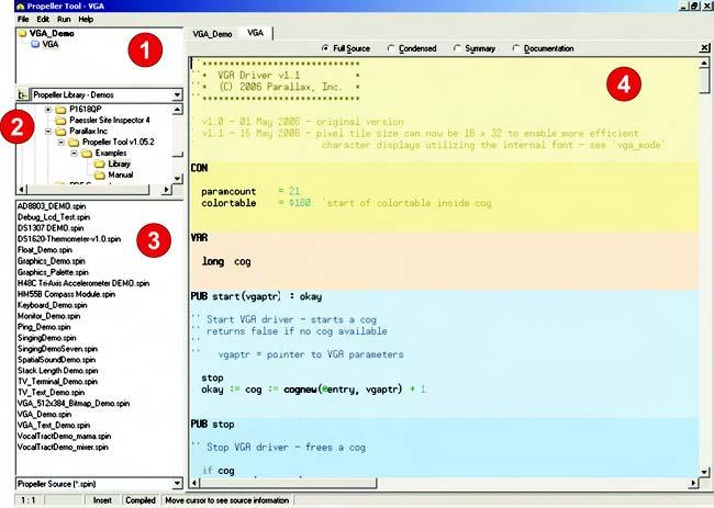 Figura 3. La schermata principale del software Propellet Tools è suddivisa in quattro sezioni