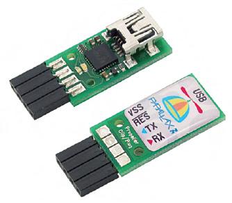 Figura 6. Per effettuare il download del codice è indispensabile disporre del Prop Plug, il quale si connette al PC tramite interfaccia USB ed al Propeller tramite porta seriale