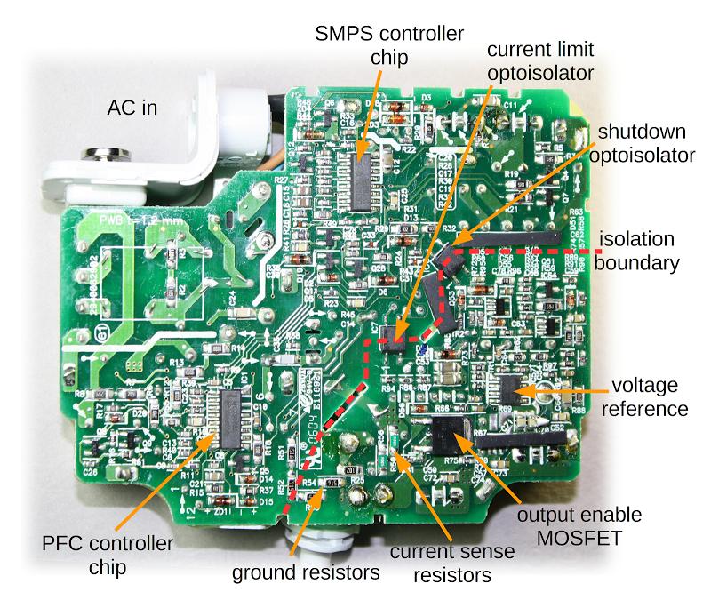 Figura 10: il PCB dell'alimentatore Apple
